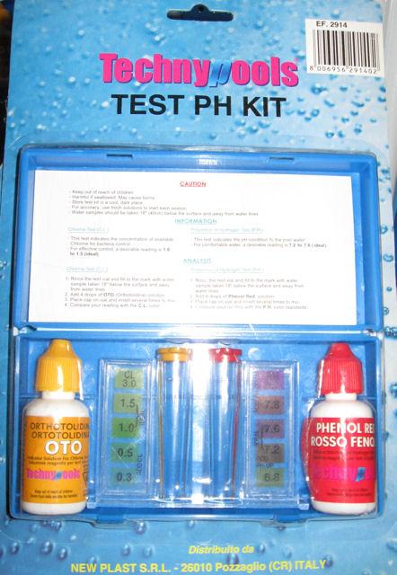 Test controllo PH trattamento