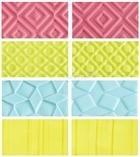 Set 4 fogli impressione effetto geometrico Decora