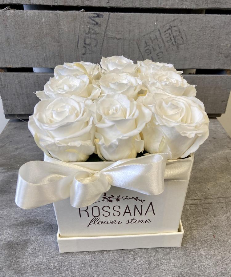 FLOWER BOX Q9 Rossana Collection BIANCO