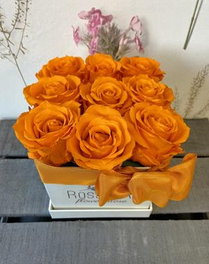 FLOWER BOX Q9 Rossana Collection ARANCIO