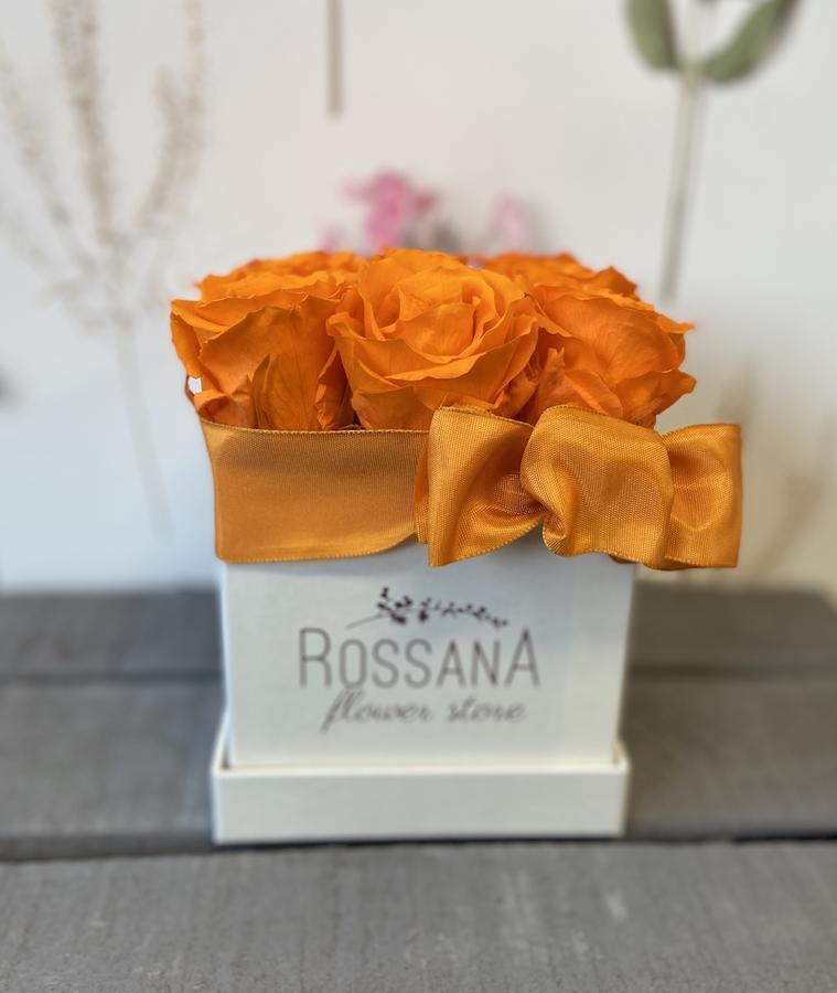 FLOWER BOX Q9 Rossana Collection ARANCIO