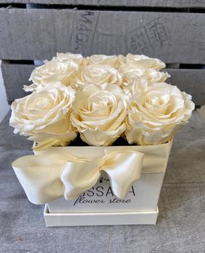 FLOWER BOX Q9 Rossana Collection AVORIO