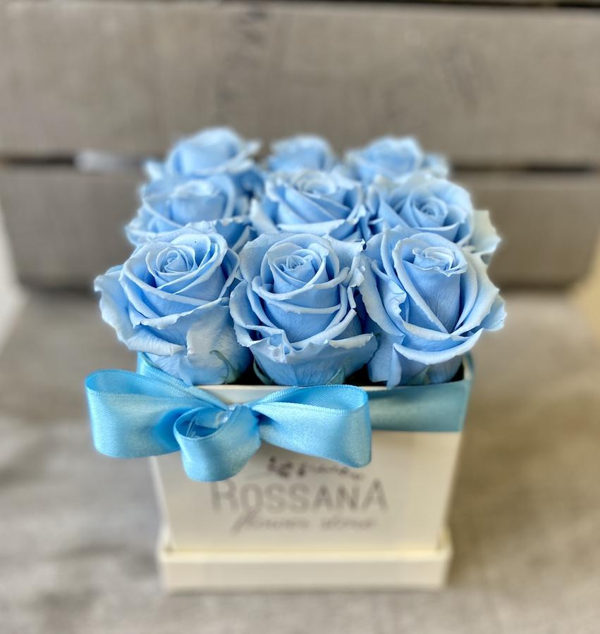 FLOWER BOX Q9 Rossana Collection AZZURRO