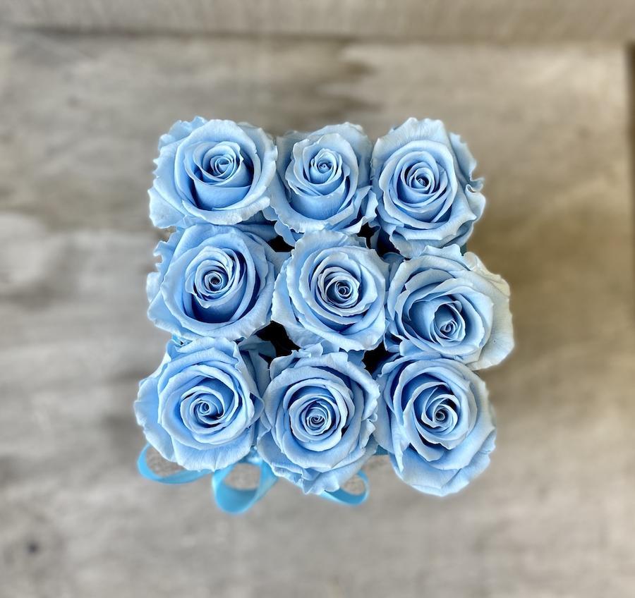 FLOWER BOX Q9 Rossana Collection AZZURRO