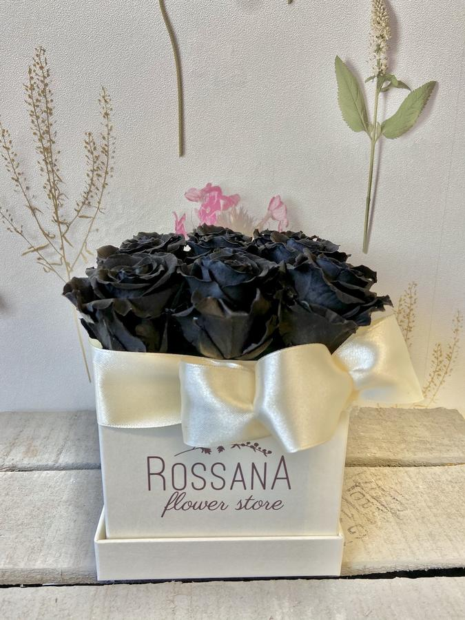 FLOWER BOX Q9 Rossana Collection NERO