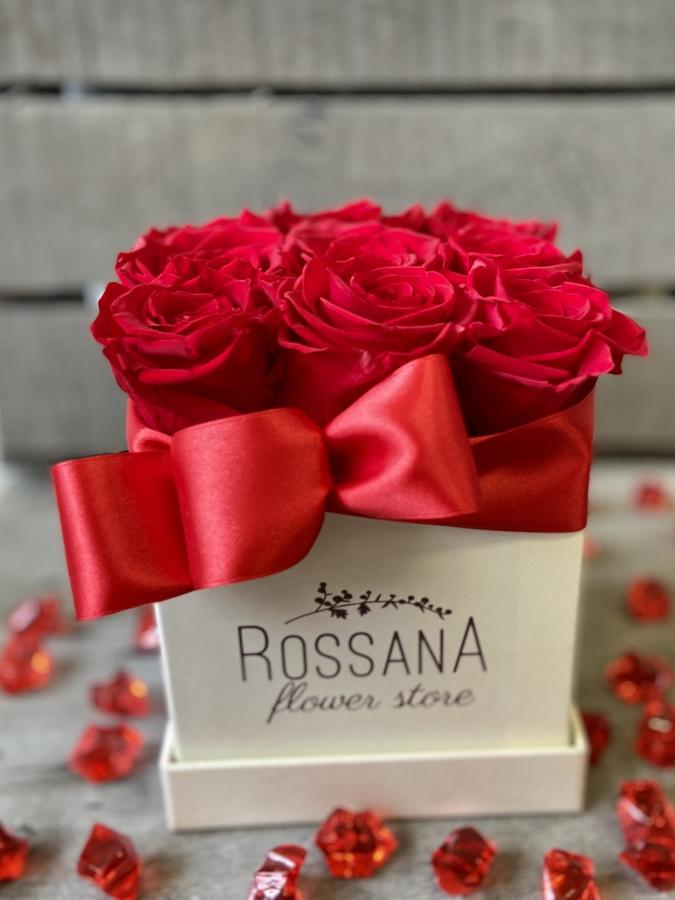 FLOWER BOX Q9 Rossana Collection ROSSO