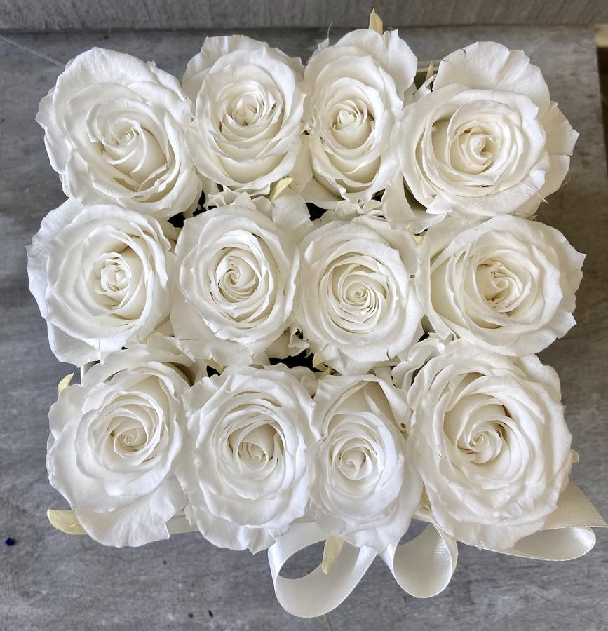 FLOWER BOX Q12 Rossana Collection BIANCO