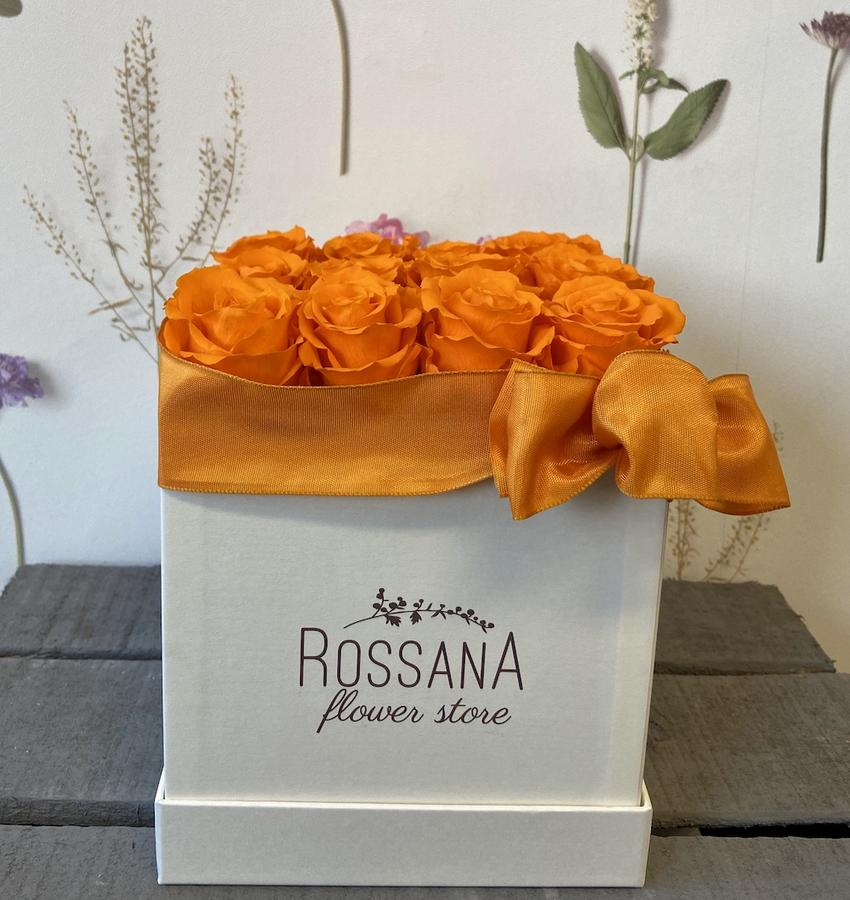 FLOWER BOX Q12 Rossana Collection ARANCIO