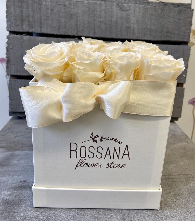 FLOWER BOX Q12 Rossana Collection AVORIO
