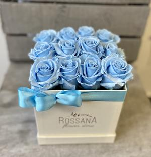 FLOWER BOX Q12 Rossana Collection AZZURRO