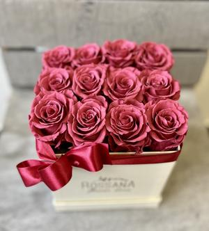 FLOWER BOX Q12 Rossana Collection CRANBERRY