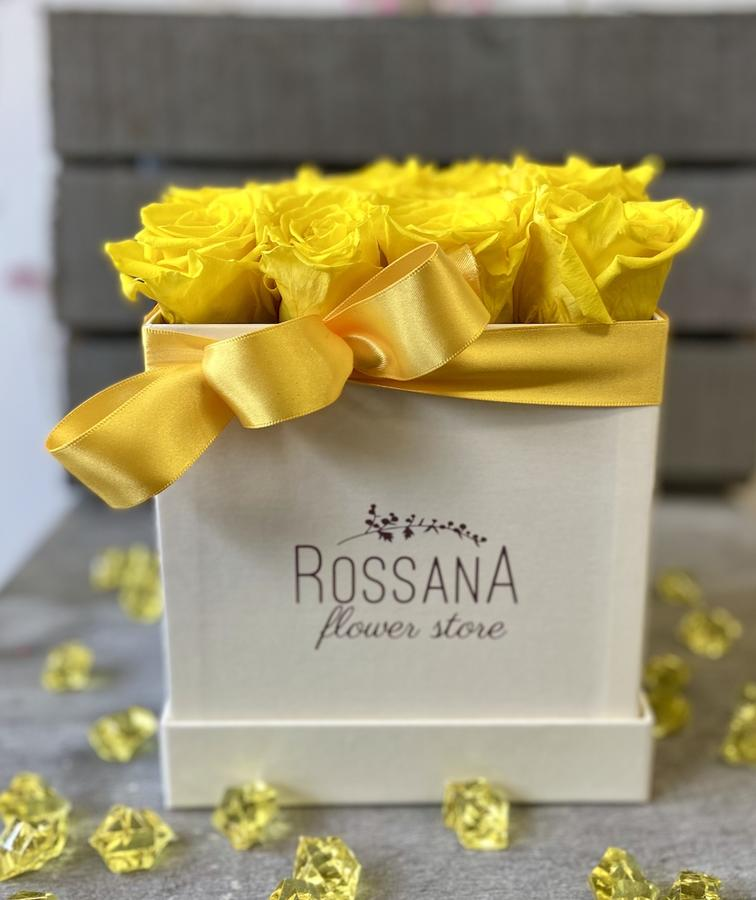 FLOWER BOX Q12 Rossana Collection GIALLO