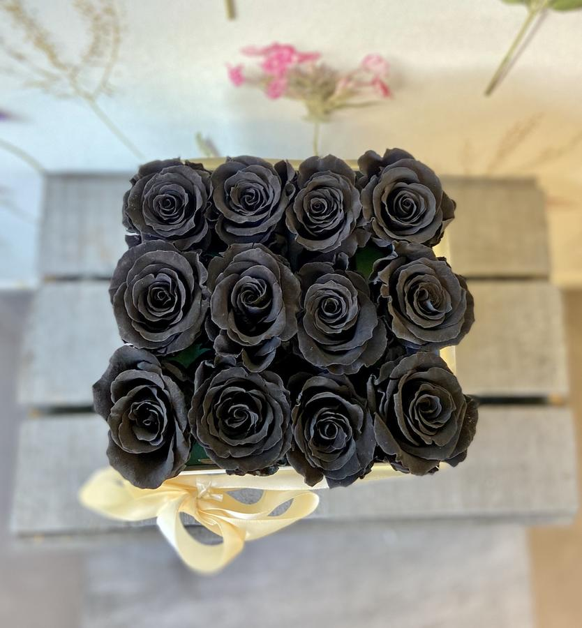 FLOWER BOX Q12 Rossana Collection NERO