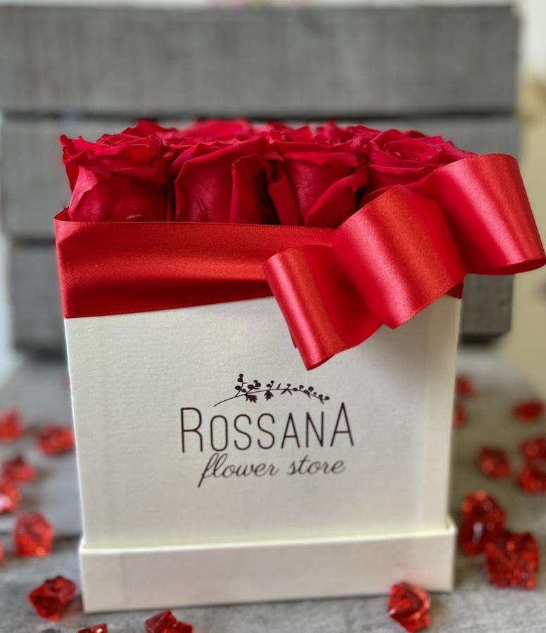 FLOWER BOX Q12 Rossana Collection ROSSO