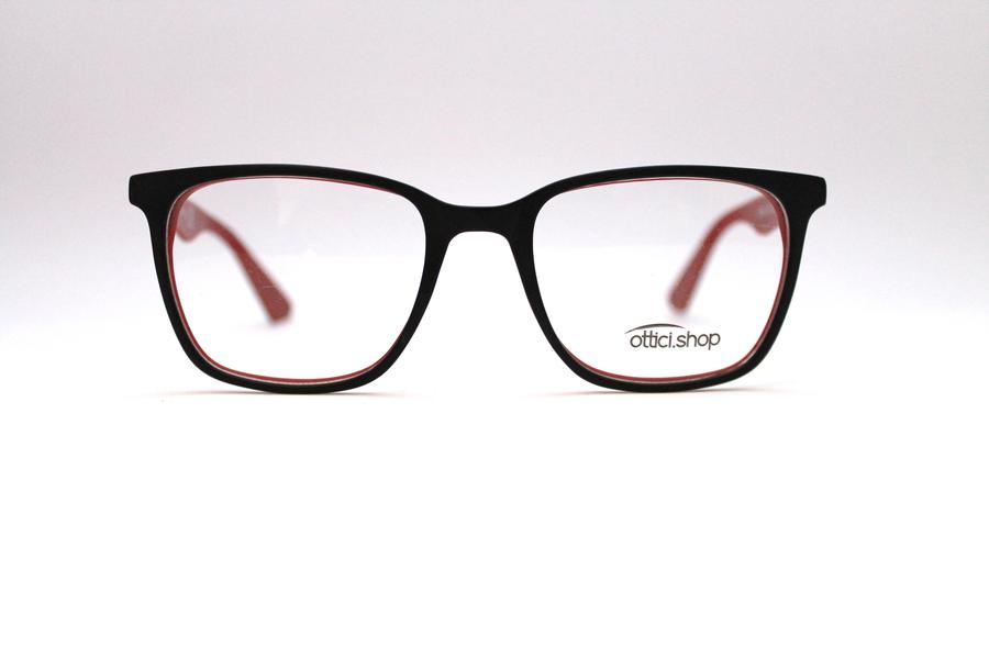 Montatura in plastica Ottici Shop OSH 24 Nero/rosso - Lenti da vista incluse -