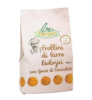 Frollini al Farro con Gocce di Cioccolato Bio Trevisan 250 gr