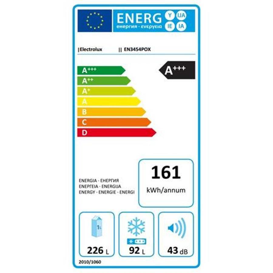 FRIGORIFERO ELECTROLUX INOX NO FROST A+++ ALTO 185 CM