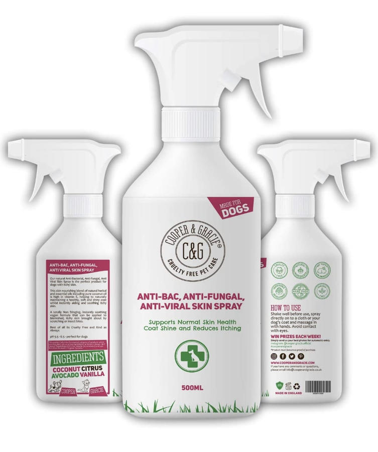 Spray igienizzante per cani bio e vegan 500 ml