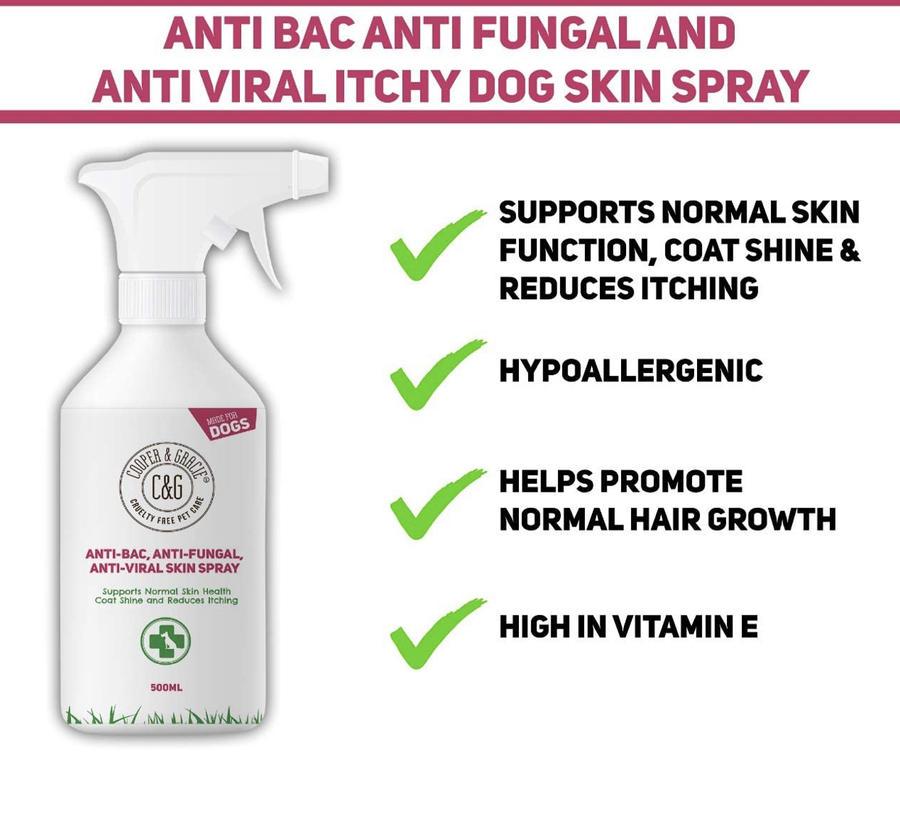 Spray igienizzante per cani bio e vegan 500 ml