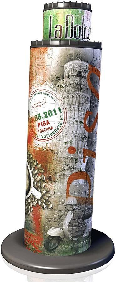 Puzzle 3D Torre di Pisa-Edizione Bandiera 216 Pezzi