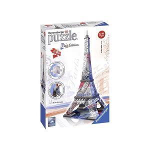 Puzzle 3D Torre Eiffel Parigi -Flag Edition Color 216 pezzi