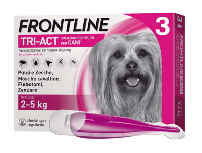 Frontline Triact Spot On per Cani 2-5 Kg 3 Pipette