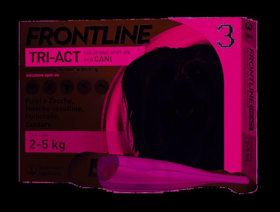 Frontline Triact Spot On per Cani 2-5 Kg 3 Pipette
