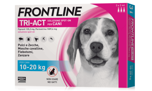 Frontline Triact Spot On per Cani 10-20 Kg 3 Pipette
