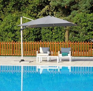 Ombrellone da giardino quadrato inclinabile e basculante 3×3 in alluminio professionale ristorazione bar hotel cod 5048