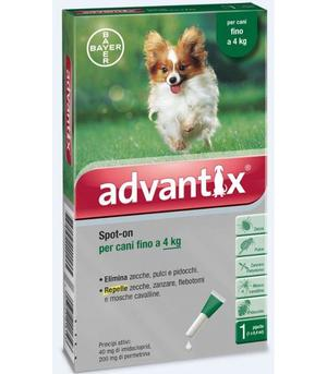 Advantix Spot On per Cani 0-4 Kg 1 Pipetta