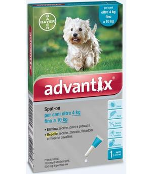 Advantix Spot On per Cani 4-10 Kg 1 Pipetta