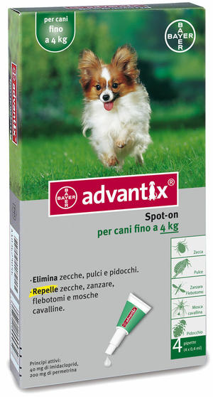 Advantix Spot On per Cani 0-4 Kg 4 Pipette