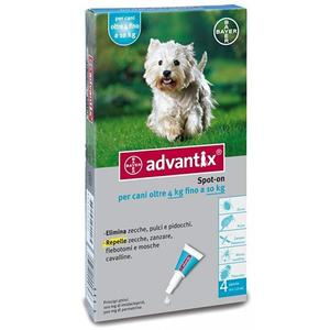 Advantix Spot On per Cani 4-10 Kg 4 Pipette