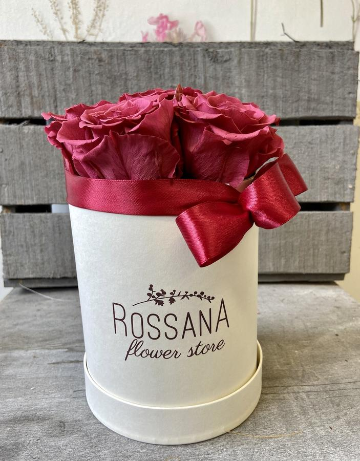 FLOWER BOX T7 Rossana Collection CRANBERRY