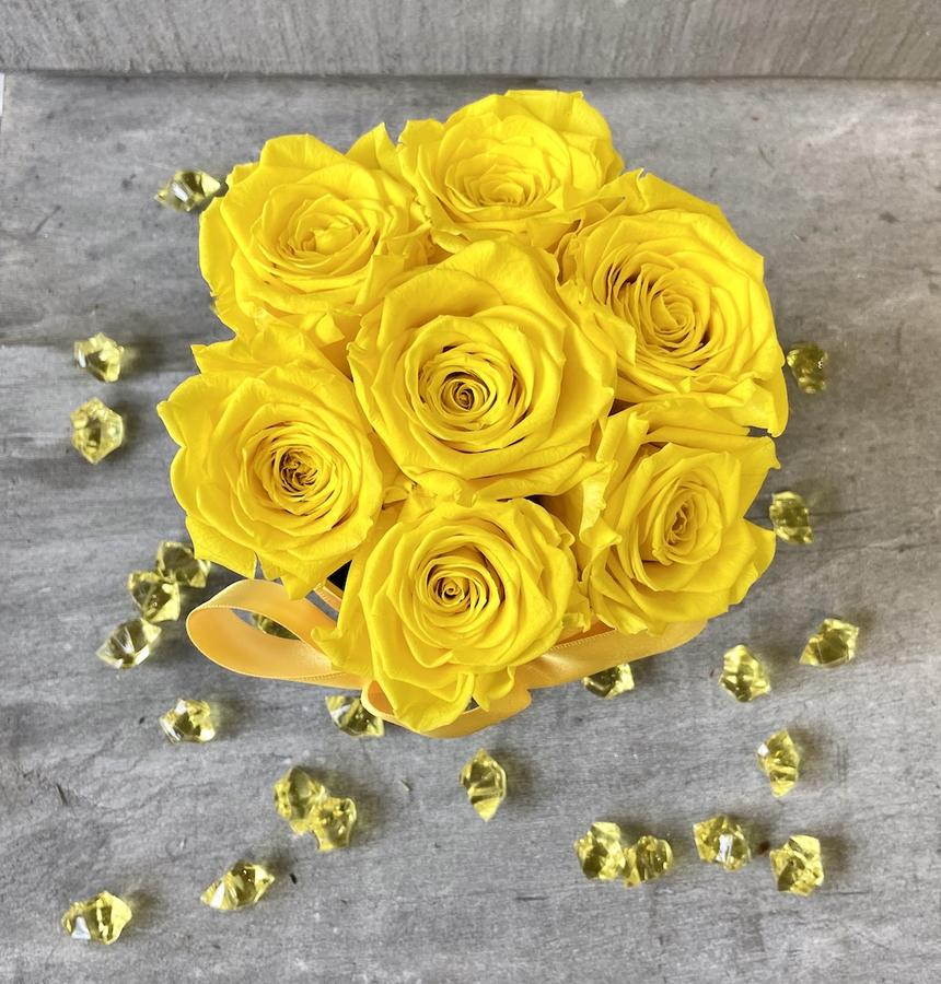 FLOWER BOX T7 Rossana Collection GIALLO