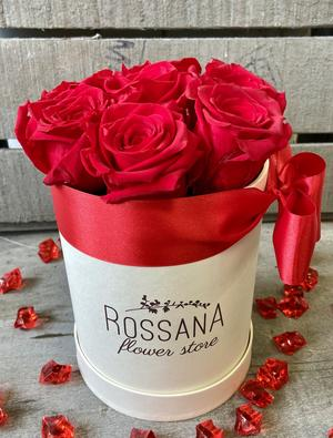 FLOWER BOX T7 Rossana Collection ROSSO