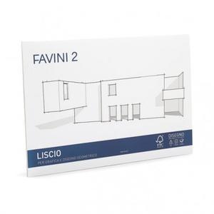 BLOCCO ALBUM DISEGNO LISCIO FAVINI D4 20 FOGLI 24x33 - 110 gr