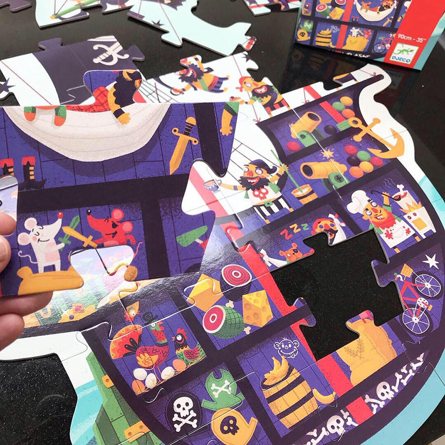 Puzzle gigante La nave di Pirati