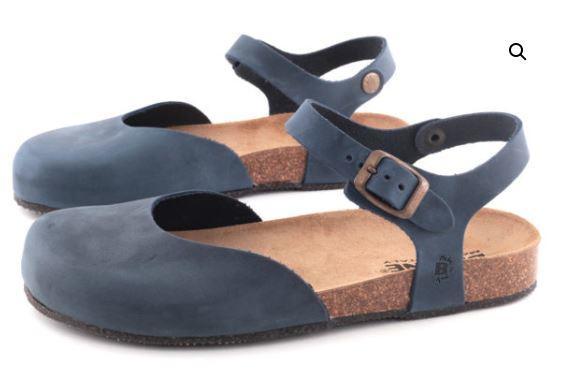 Sandalo Chiuso Pelle Blu - BIOLINE