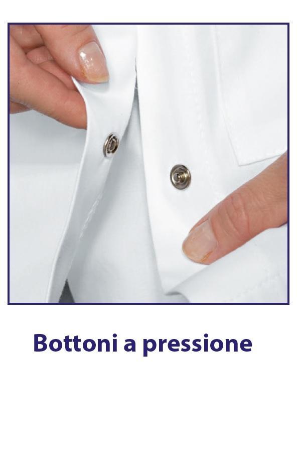 CAMICE DONNA BOTTONI CLIPS