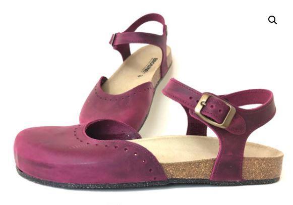 Sandalo Chiuso Pelle Garnet - BIOLINE