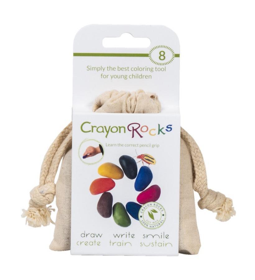 Crayon Rocks 8 pastelli di soia in sacchetto di cotone