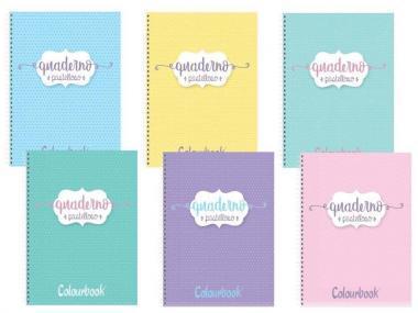 Colourbook Maxi Spiralato 1R A4 pastelloso