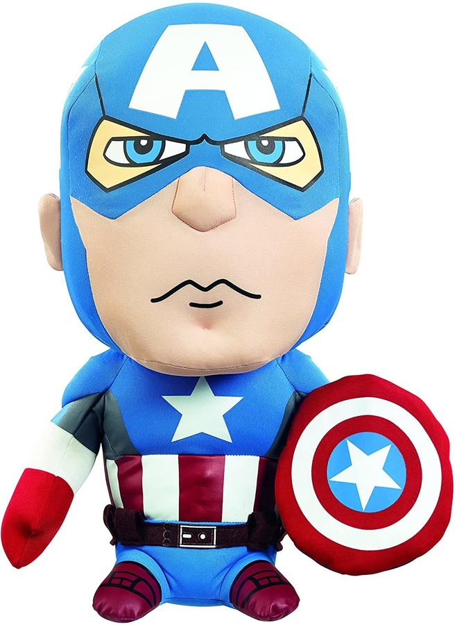 Peluche Marvel Capitan America con Suono 24 cm - Underground Toys AVG 02.310 - 3+ anni