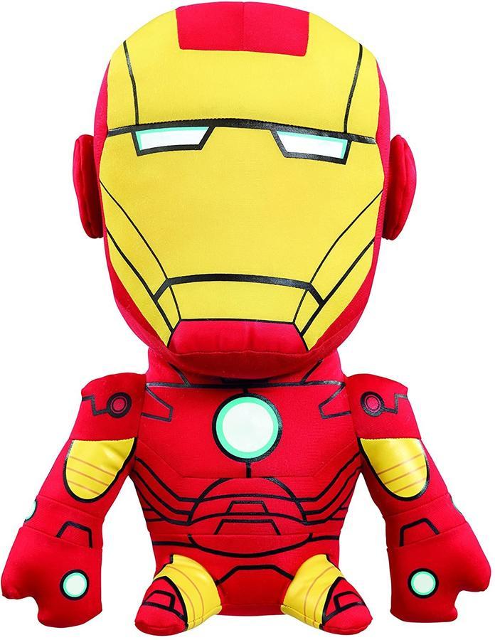 Peluche Marvel Iron Man con effetti sonori 24 cm - Underground Toys AVG02313 - 3+ anni