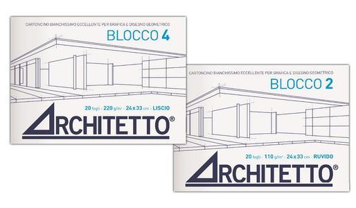 ALBUM DA DISEGNO 24 X 33 CM BLOCCO 4 ARCHITETTO LISCIO SQUADRATO