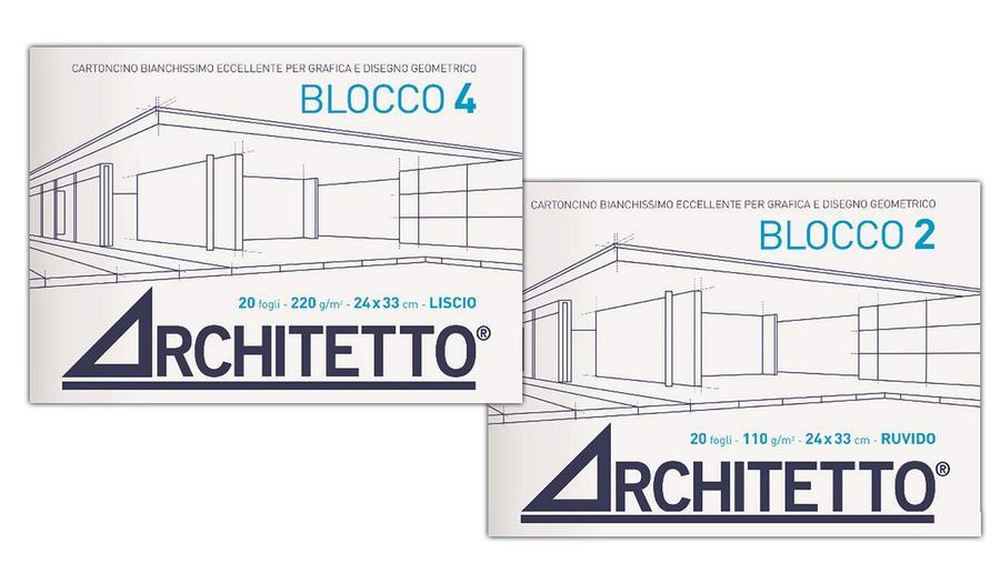 ALBUM DA DISEGNO BLOCCO 4 ARCHITETTO LISCIO