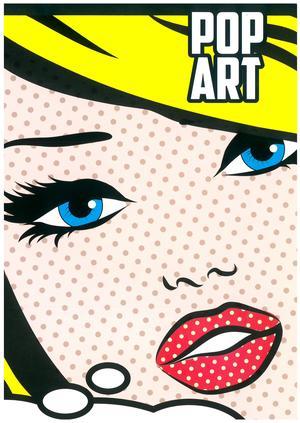 "QUADERNONE FORMATO A4 A RIGHE SENZA MARGINE - COPERTINA ""POP ART"""