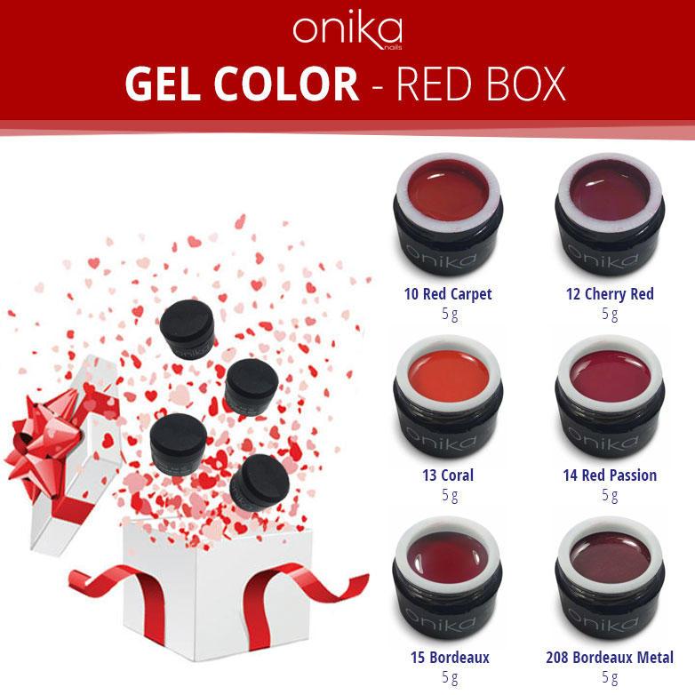 Gel Color - Red Box - 6 Gel
