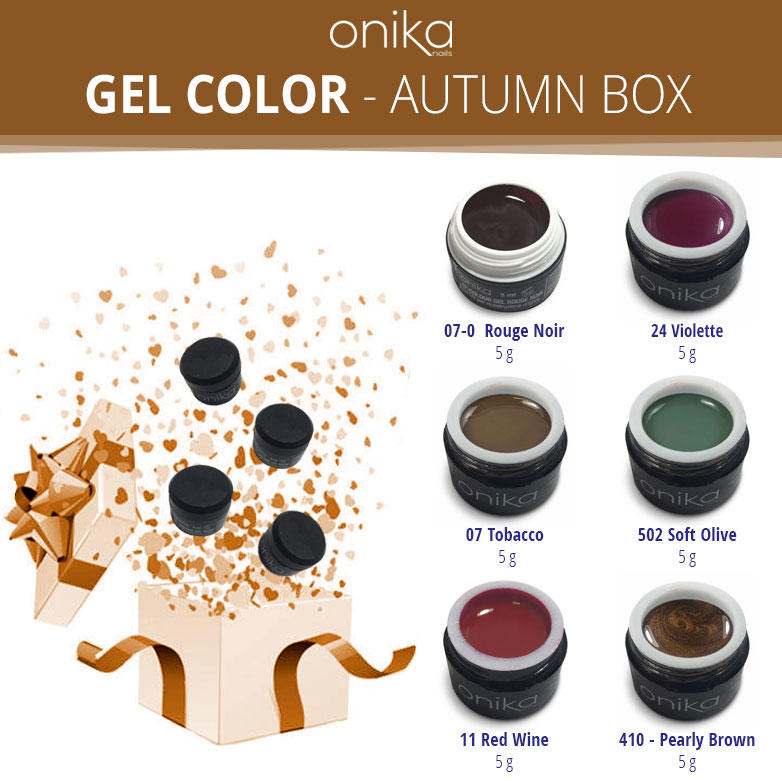 Gel Color - Autumn Box - 6 Gel